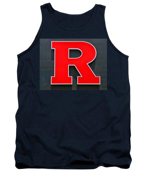 Rutgers Block R Tank Top by Allen Beatty