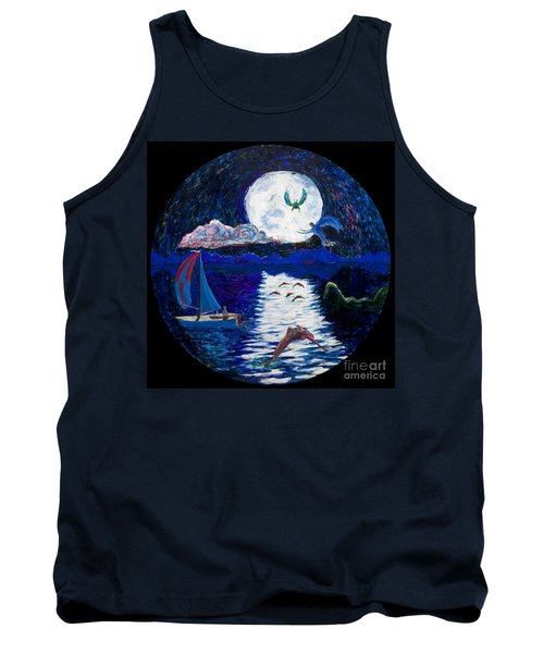 Sailing In The Moonlight Tank Top