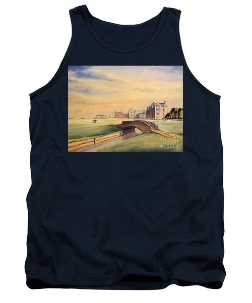 Saint Andrews Golf Course Scotland - 18th Hole Tank Top by Bill Holkham