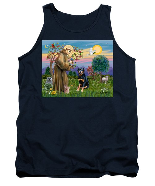 Saint Francis Blesses A Rottweiler Tank Top