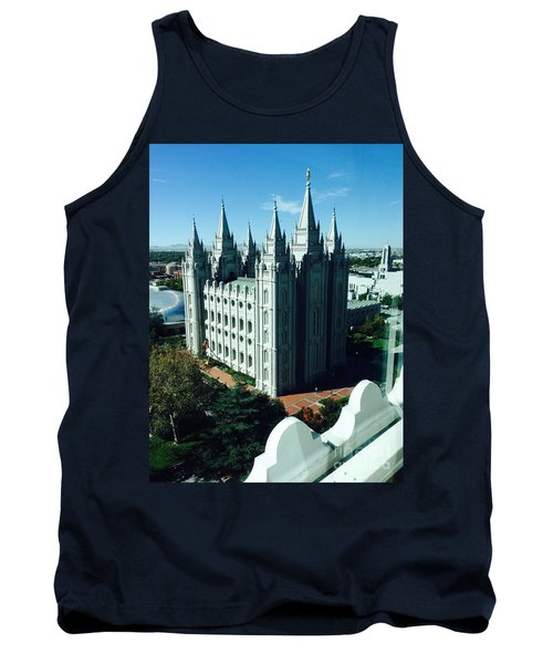 Tank Top featuring the photograph Salt Lake Temple The Church Of Jesus Christ Of Latter-day Saints The Mormons by Richard W Linford