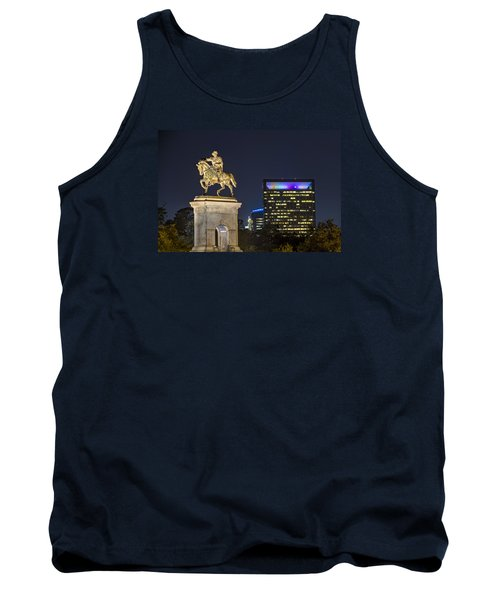 Tank Top featuring the photograph Sam Houston At Night by Tim Stanley