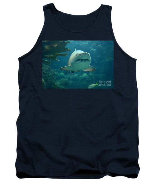 Tank Top featuring the photograph Sand Shark by Robert Meanor