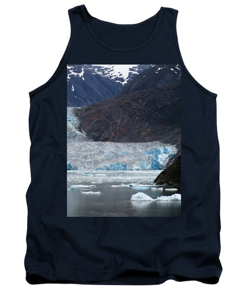 Tank Top featuring the photograph Sawyer Glacier Blue Ice by Jennifer Wheatley Wolf