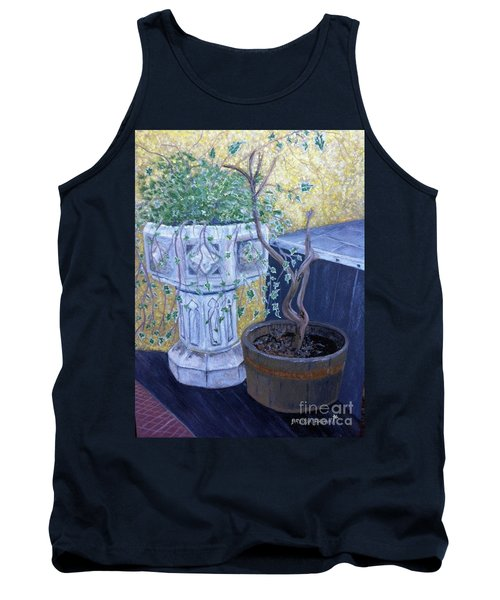Tank Top featuring the painting Sean's Planter by Brenda Brown