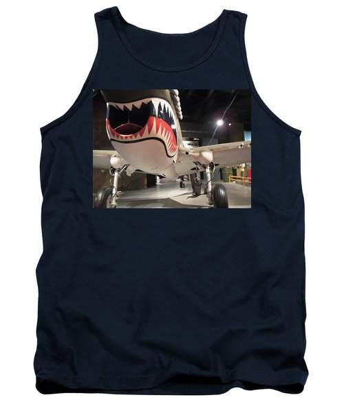 Tank Top featuring the photograph Shark Aircraft by Aaron Martens