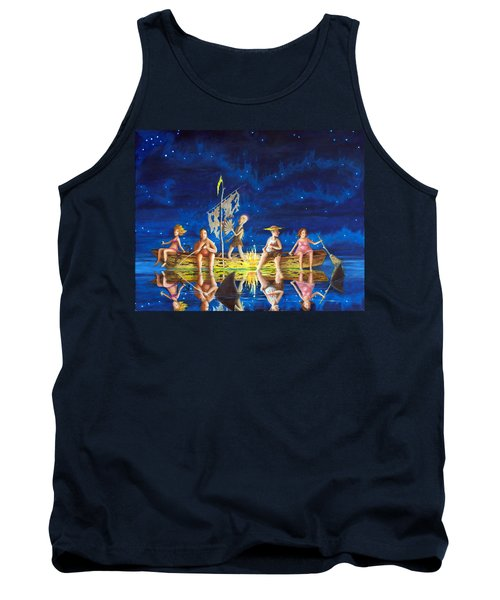 Tank Top featuring the painting Ship Of Fools by Matt Konar