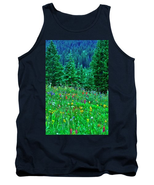 Tank Top featuring the photograph Shrine Pass Wildflowers by Jeremy Rhoades