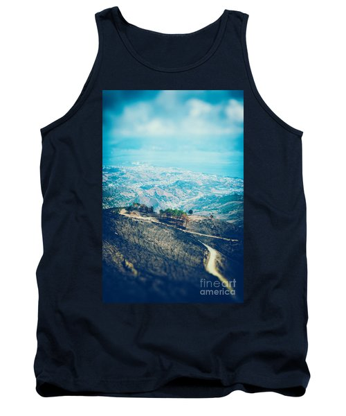 Tank Top featuring the photograph Sicilian Land After Fire by Silvia Ganora