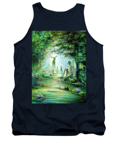 Tank Top featuring the painting Siempre Conmigo by Heather Calderon