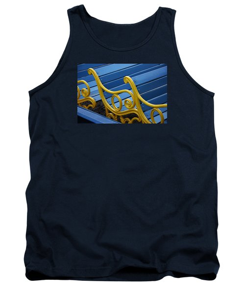 Tank Top featuring the photograph Skc 0246 The Garden Benches by Sunil Kapadia
