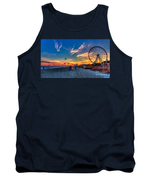 Skywheel Sunset At Myrtle Beach Tank Top