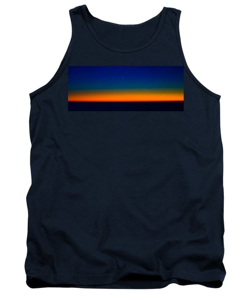 Tank Top featuring the photograph Slice Of Moon In The Night Sky by Don Schwartz