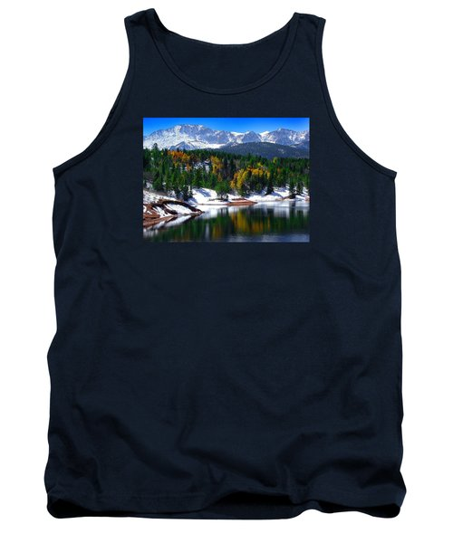 Snow Capped Pikes Peak At Crystal  Tank Top
