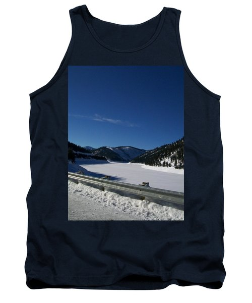 Tank Top featuring the photograph Snow Lake by Jewel Hengen