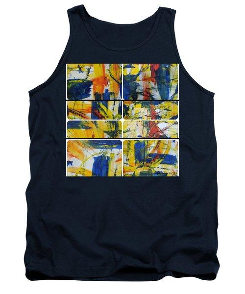Tank Top featuring the painting Spring Part One by Sir Josef - Social Critic - ART