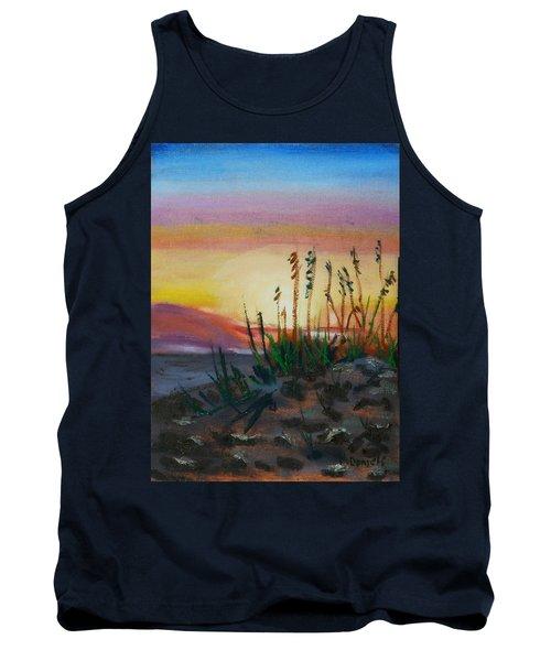 Beach At Sunrise Tank Top by Michael Daniels