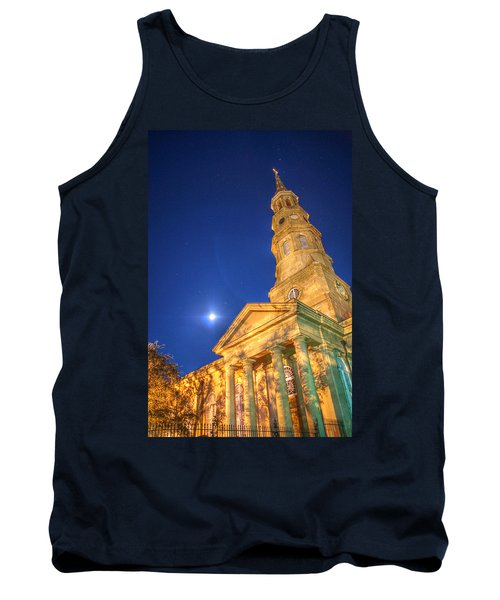 St. Phillip's At Night With Moon And Stars Tank Top