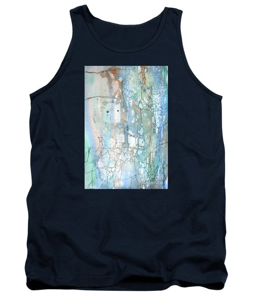 Tank Top featuring the painting Stained Cracks by Rebecca Davis