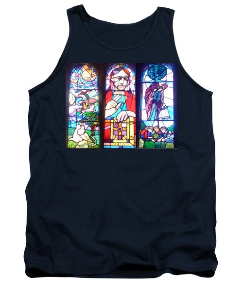 Tank Top featuring the photograph Stained Glass Window by John Williams