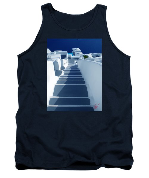 Stairs Down To Ocean Santorini Tank Top by Colette V Hera  Guggenheim