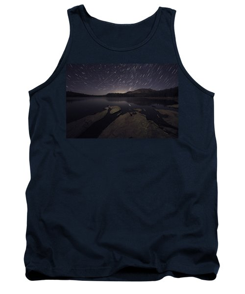 Star Trails Over Silver Lake Resort Tank Top