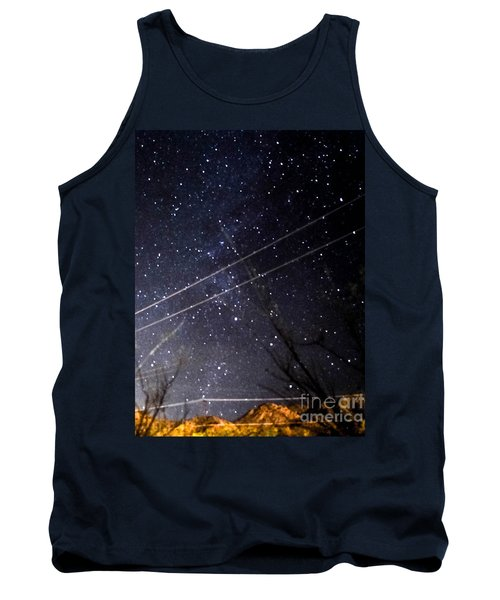 Stars Drunk On Lightpaint Tank Top