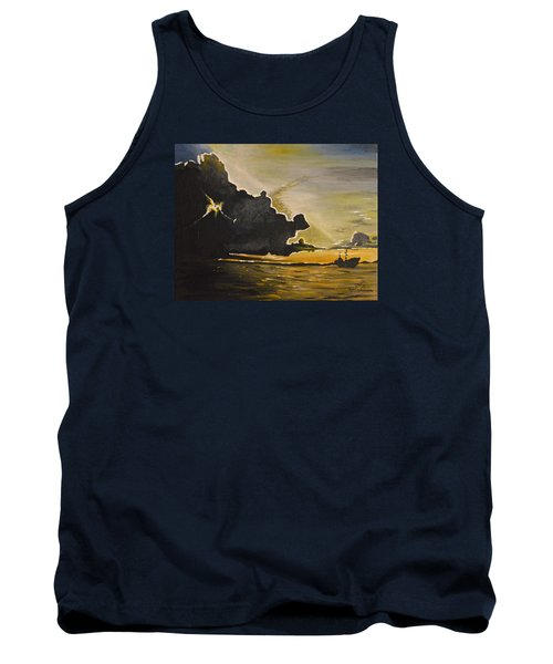 Staying Ahead Of The Storm Tank Top by Donna Blossom