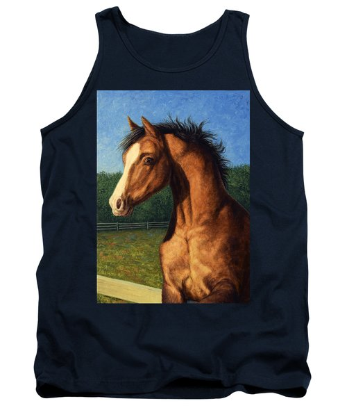 Tank Top featuring the painting Stir Crazy by James W Johnson