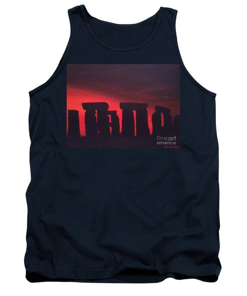 Stonehenge At Dusk Tank Top