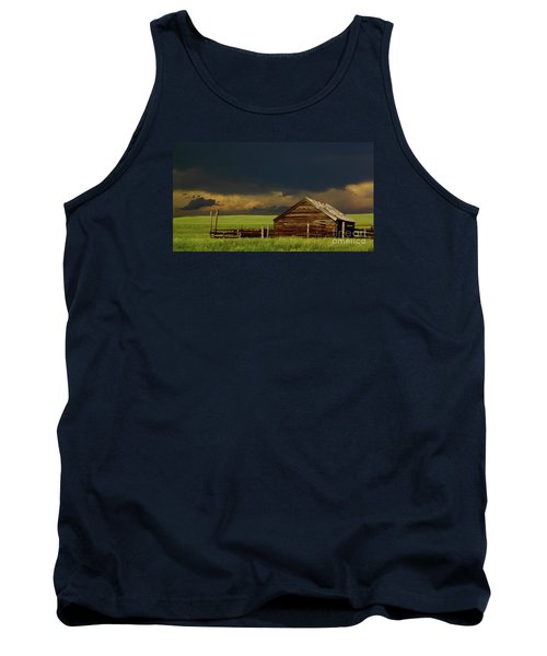 Storm Crossing Prairie 2 Tank Top by Robert Frederick