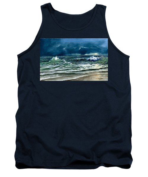 Tank Top featuring the painting Storm Off Yucatan Mexico by Lynne Wright