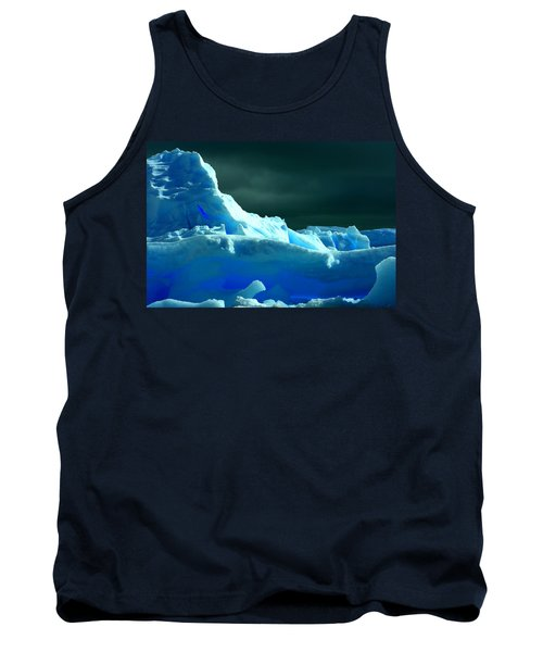 Tank Top featuring the photograph Stormy Icebergs by Amanda Stadther