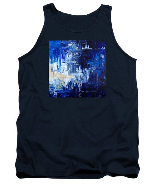 Stormy Waves Tank Top by Rebecca Davis