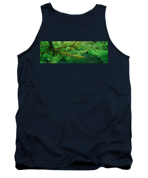 Stream Flowing Through A Rainforest Tank Top by Panoramic Images