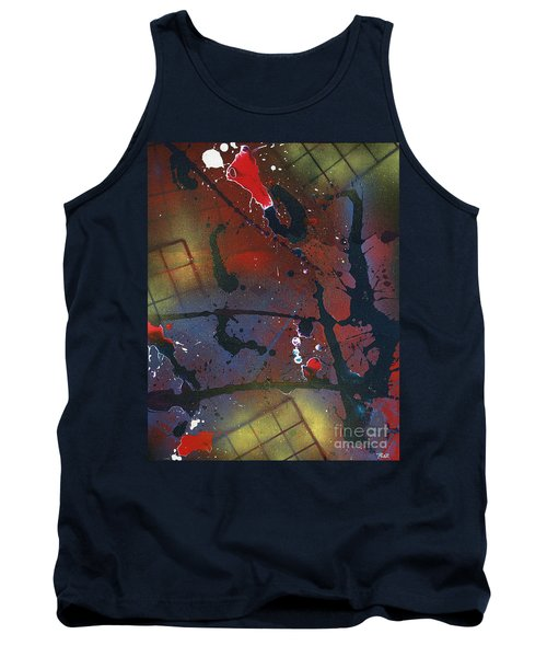 Tank Top featuring the painting Street Spirit by Roz Abellera Art