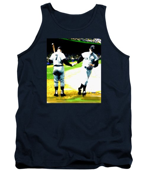 Summer Of The Gods  Iv 1961 Mickey Mantle Tank Top by Iconic Images Art Gallery David Pucciarelli
