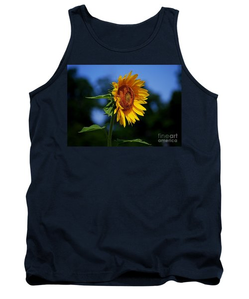 Sunflower With Honeybee Tank Top by Catherine Sherman