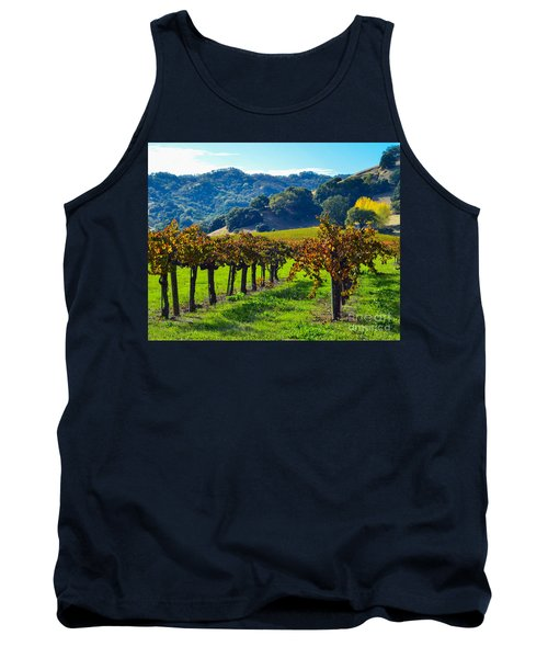 Sunny Autumn Vineyards Tank Top by CML Brown