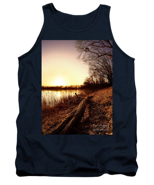 Sunset At The Lake Tank Top by Daniel Heine