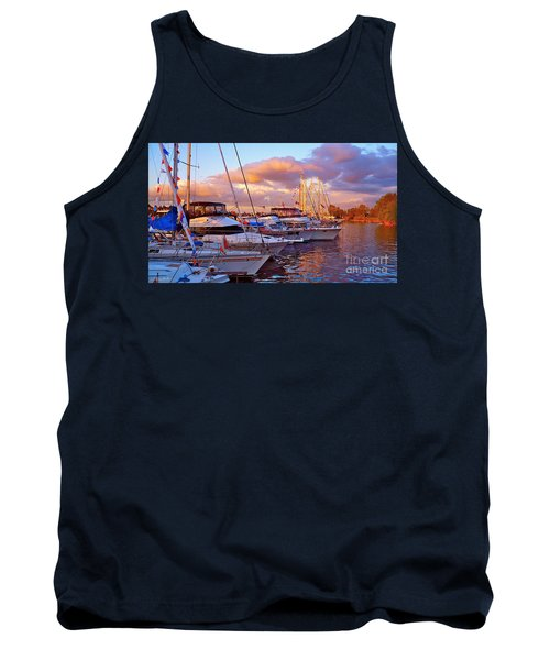 Sunset Before The Show Tank Top by Gem S Visionary
