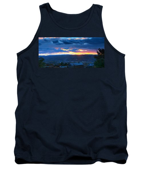 Sunset In Ithaca New York Panoramic Photography Tank Top by Paul Ge