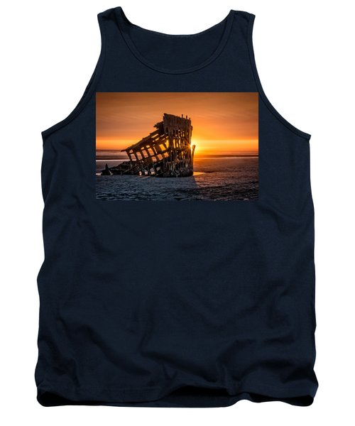 Sunset Peter Iredale Tank Top by James Hammond