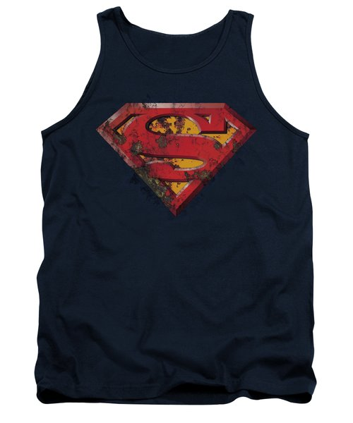 Superman - Rusted Shield Tank Top