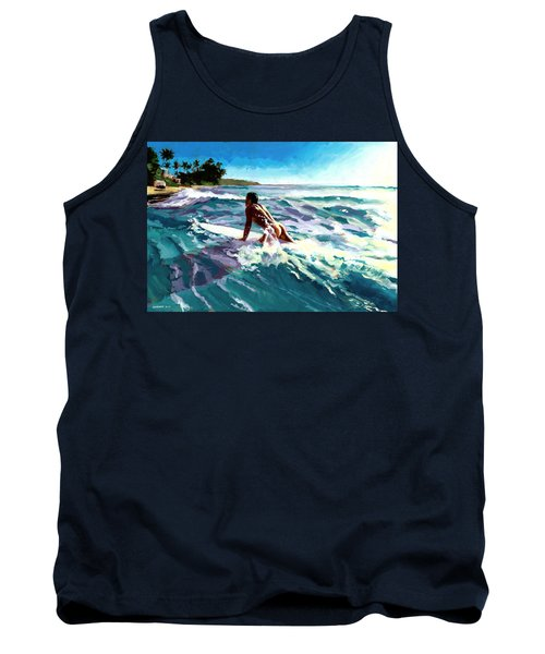 Surfer Coming In Tank Top