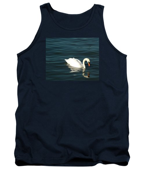 Tank Top featuring the photograph Swan Elegance by Kathy Churchman