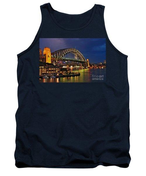 Sydney Harbour Bridge By Night Tank Top