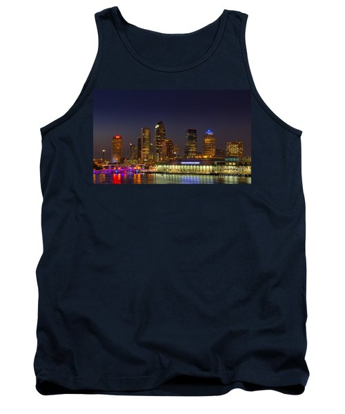 Tampa Lights At Dusk Tank Top by Marvin Spates