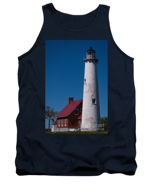 Tank Top featuring the photograph Tawas Point Lighthouse by Patrick Shupert