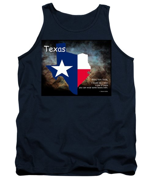 Jensen Ackles Texas Quote Tank Top